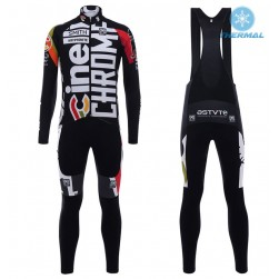 2017 Cinelli Chrome Training Black Thermal Cycling Jersey And Bib Pants Set