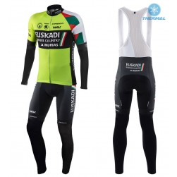 2017 Euskadi Kalas  Thermal Cycling Jersey And Bib Pants Set