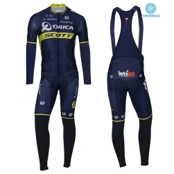 2017 Team Orica Scott Thermal Cycling Jersey And Bib Pants Set