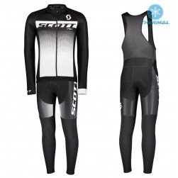 2017 Scott RC Black-White Thermal Cycling Jersey And Bib Pants Set