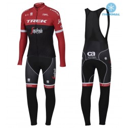 2017 Trek Pro Race Red Thermal Cycling Jersey And Bib Pants Set