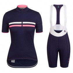 2017 Rapha Brevet Blue-Pink Women Cycling Jersey And Bib Shorts Set