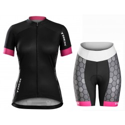2016 Bontrager Trek Anara Honeycomb Women Cycling Jersey And Regular Shorts Set