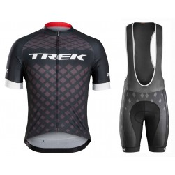 2016 Bontrager Trek Specter Black Cycling Jersey And Bib Shorts Set