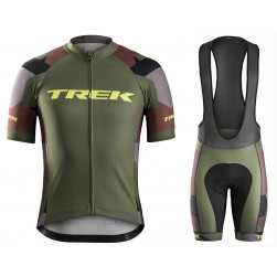 2016 Bontrager Trek RL Camouflage Cycling Jersey And Bib Shorts Set