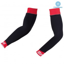 2017 Santini Black-Red Thermal Cycling Arm Warmer