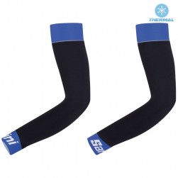 2017 Santini Black-Blue Thermal Cycling Arm Warmer