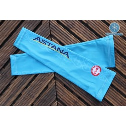 2016 Astana Blue Thermal Cycling Arm Warmer