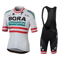 2018 Team Bora Hansgrohe Austria Champion Cycling Jersey And Bib Shorts Set