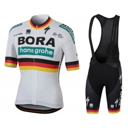 2018 Team Bora Hansgrohe Germany Champion Cycling Jersey And Bib Shorts Set