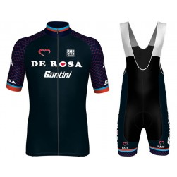 2018 De-Rosa Team Cycling Jersey And Bib Shorts Set