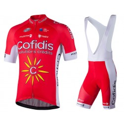 2018 Cofidis Solutions Credits Cycling Jersey And Bib Shorts Set