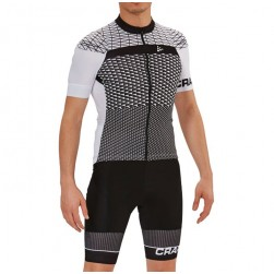 2018 Craft Route White Cycling Jersey And Bib Shorts Set