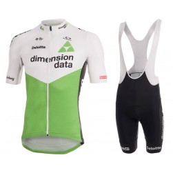 2018 Dimension Data White Cycling Jersey And Bib Shorts Set