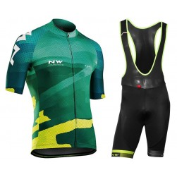 2018 Northwave Blade 3 Green Cycling Jersey And Bib Shorts Set