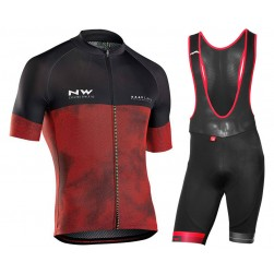 2018 Northwave Blade 3 Red Cycling Jersey And Bib Shorts Set