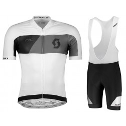 2018 Scott RC Premium White Cycling Jersey And Bib Shorts Set