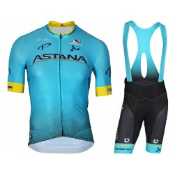 2018 Astana Team Cycling Jersey And Bib Shorts Set