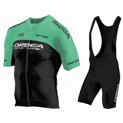 2018 Orbea Factroy Team Green Cycling Jersey And Bib Shorts Set