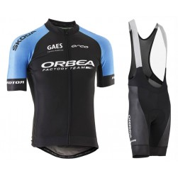 2018 Orbea Factroy Team Blue Cycling Jersey And Bib Shorts Set