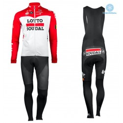 2018 Lotto Soudal Red Thermal Cycling Jersey And Bib Pants Set