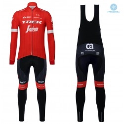 2018 Trek Segafredo Red Thermal Cycling Jersey And Bib Pants Set