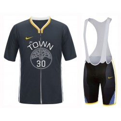 2019 Golden State Warriors Stephen Curry Cycling Jersey And Bib Shorts Set