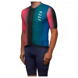 2019 MAAP Cortina Navy Cycling Jersey And Bib Shorts Set
