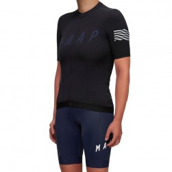 2019 MAAP Escape Black Women's Cycling Jersey And Bib Shorts Set