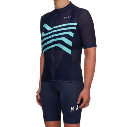 2019 MAAP M-Flag Ultra Navy Women's Cycling Jersey And Bib Shorts Set