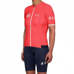2019 MAAP Prime Coral Women's Cycling Jersey And Bib Shorts Set