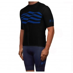 2019 MAAP M-Flag Ultra Black-Blue Cycling Jersey And Bib Shorts Set