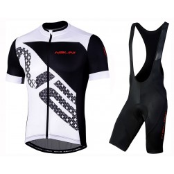 2019 Nalini Volata 2.0 Black-White Cycling Jersey And Bib Shorts Set