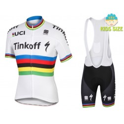 365581703 2016 Tinkoff Race Team World Champion Kids Cycling Jersey And Bib Shorts Set