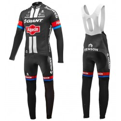 2016 Team Giant-Alpecin Long Sleeve Cycling Jersey And Bib Pants Set