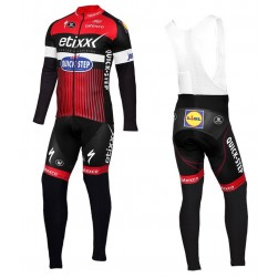 2016 Etixx-Quick Step TDF Edition Red Long Sleeve Cycling Jersey And Bib Pants Set