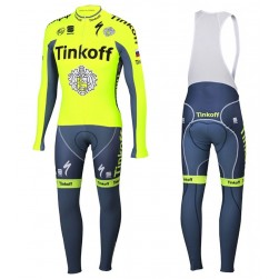 2016 Tinkoff Race Team Long Sleeve Cycling Jersey And Bib Pants Set