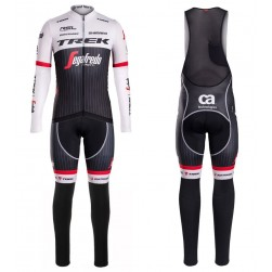 2016 Trek Segafredo RSL TDF Edition Long Sleeve Cycling Jersey And Bib Pants Set