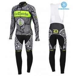 2016 Tinkoff Training Black Thermal Long Sleeve Cycling Jersey And Bib Pants Set