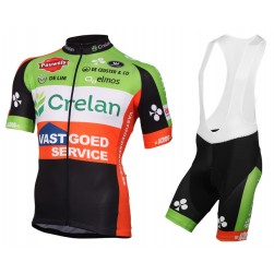 2016 Crelan-Vastgoedservice Cycling Jersey And Bib Shorts Set