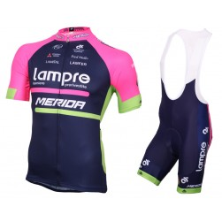 2016 Lampre Merida Cycling Jersey And Bib Shorts Set