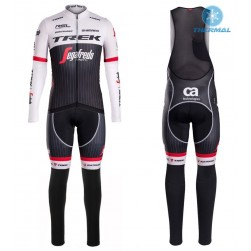 2016 Trek Segafredo RSL TDF Edition Thermal Long Sleeve Cycling Jersey And Bib Pants Set