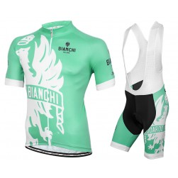 2016 Bianchi Milano Sorisole White-Green Cycling Jersey And Bib Shorts Set