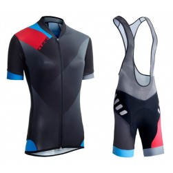 2016 Cube WLS Black Zero Women Cycling Jersey And Bib Shorts Set