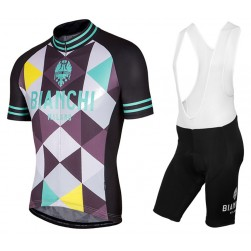 2017 Bianchi Milano Aviolo Cycling Jersey And Bib Shorts Set