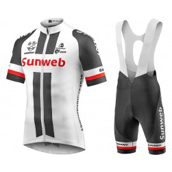 2017 Team Sunweb Giant White Cycling Jersey And Bib Shorts Set