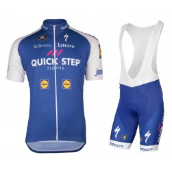 2017 Quick-Step Floors Cycling Jersey And Bib Shorts Set