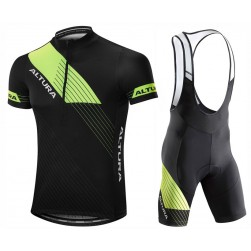 2017 Altura Sportive Black-Yellow Cycling Jersey And Bib Shorts Set