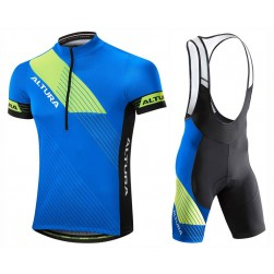 2017 Altura Sportive Blue-Yellow Cycling Jersey And Bib Shorts Set