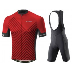 2017 Altura Peloton 2 Red Cycling Jersey And Bib Shorts Set